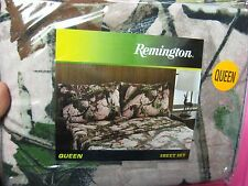 Remington Pink Camouflage Bed Sheets & Pillowcase Set Queen Size / Pink Camo