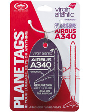 PlaneTags Virgin Atlantic A340-600 Varga Girl G-VGAS Limitiert PURPLE