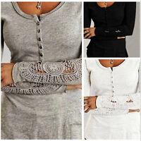 Maglia Donna Manica Lunga Decorata Woman Autumn Top T-shirt Long Sleeve 561026
