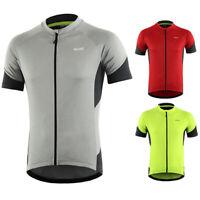 ARSUXEO Men Cycling Jersey Short Sleeve Mountain Bike Bicycle Shirt Quick Dry