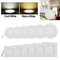 3-15W Ultra Dünn Decke Versenkt 2835 15-75LED Panel Licht Deckenlampe Dekor