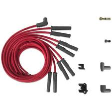 MSD Spark Plug Wire Set 31189; Super Conductor 8.5mm Red Multi Angle HEI (Male)