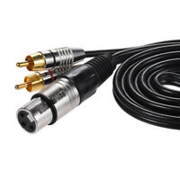 1.5m / 4.9ft Audio Cable 1 XLR Female to 2 RCA Male Plug Wire Cord Q7Z0