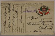 POSTA MILITARE 90 A TIMBRO 5° ALPINI  1^ COMPAGNIA VOLONTARI  11.3.1918 #XP436E