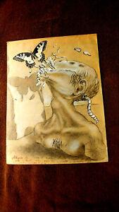 Salvador Dali  Original  Alegory Of The Sole   ( Pencil-Paper) Signed