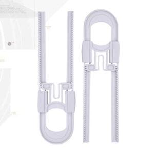2 Pack Baby Safety Locks Sliding White Cabinet Locks for Handles Kitchen Knobs