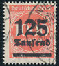 DR 1923, MiNr. 291 b, gestempelt, gepr. Infla, Mi. 70,-