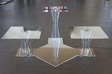 Hochzeitstortenständer Acryl Etagere 3 Etagen Plexiglas 20x20 25x25 30x30cm EDEL