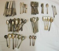Silverplate Flatwear Mixed Lot 111 Pieces Crafts Scrap Jewelry Ornate Spoons