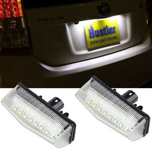 LED License Plate Lights 6000K Xenon White Bulbs For 2004-2015 Toyota Prius