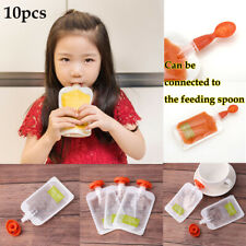 10PCS Reusable Baby Fresh Squeezed Pouch Weaning Food Puree Squeeze Storage Bags