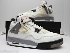 Nike Air Jordan 4 IV Retro Size 6.5y - White Cement Grey Black - 408452 103