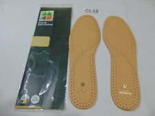 NEW FOOTCARE INSOLES SHOE INSERTS FOUR SEASONS LEATHER SIZE 41/9 MADE IN BELGIUM