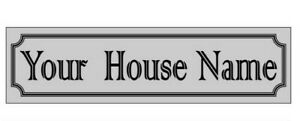 """House Name METAL SIGN. PERSONALISED  Rust proof. Non fade  11"""" x 3.75"""" easy fit"""