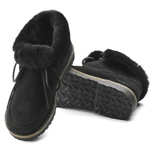 Birkenstock Bakki Leder Stiefel gefüttert 37 normal schwarz Boots 1012104 NEU
