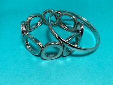 Monet Silver Bangle & Silver Stretch  Bracelet NWOT