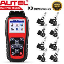 Autel TS508K Auto TPMS Diagnostic Scanner With 8pcs Tire Pressure Sensors 315MHz