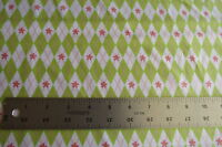 Riley Blake Sugar & Spice Green Pink with Diamonds Flowers Fabric By The Yard