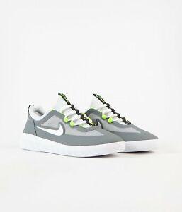 New Nike SB Nyjah Free 2 Shoes Smoke Grey/ White-Lt Smoke Grey Size US Mens 12