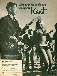 VINTAGE 1967 KENT GUITAR PAGE AD