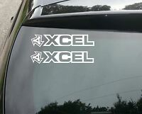2x XCEL SURF Car/Van/Window JDM VW DUB VAG EURO FAT Vinyl Decal Sticker