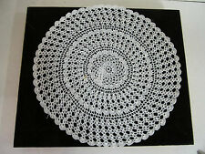 """Crocheted Lace Doily 11 1/2"""" Round with Intricate Detail Made in India"""
