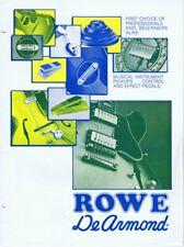 ORIGINAL Vintage 1970s Rowe Dearmond Instrument Effect Pedals Catalog