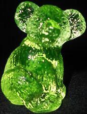 Neon Green Vaseline Hazel Koala Bear glass Figurine Paperweight / uranium yellow