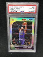 LeBron James 2019-20 Panini Hoops PREMIUM BOX SILVER  /199 Lakers #87 PSA 10 D74