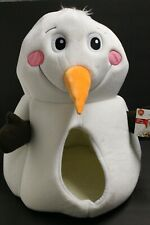 Frosty the Snowman Dog Cat Pet Hut Fleece Soft Igloo Bed Travel Fleece Basket