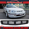 Fits 99-00 Honda Civic Mugen Style Front Hood Mesh Grille Grill Black ABS