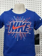Boys Youth Kids Nike Tee short sleeve Shirt Blue Red White Athletic Cut Size 4T