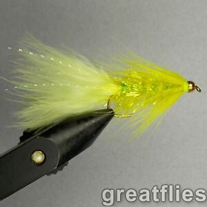 1 dozen (12) - Crystal Bugger - Chartreuse - Bead Head