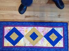 """Quilted table runner hand made 35"""" x 15"""" 100% cotton"""