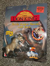 DISNEY 1994 LION KING BATTLE ACTION BANZAI & ZAZU FIGURES MATTEL NEW SEALED