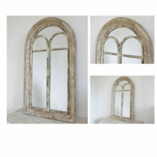 Wooden Frame Arched Freestanding/Cheval Decorative Mirrors