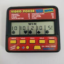 Radica Video Poker Royal Flush 2000 Electronic Handheld Game Model 410 works