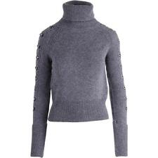 Juicy Couture Black Label 5901 Womens Gray Cable Knit Turtleneck Sweater M BHFO
