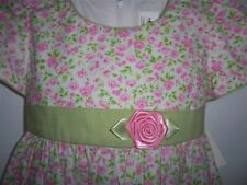 NEW THERESE BOUTIQUE Girl dress 24M Pink Rose Apple Green Wooden Soldier Easter