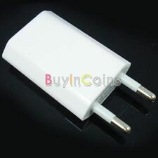 Portable USB Charger AC Adapter for Cell Phone White EU CR 01