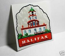 HALIFAX Canada Vintage Style Travel Decal, Vinyl Sticker, luggage label