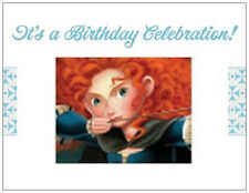 20 Brave Merida Birthday Party Invitations Post Cards Card