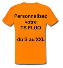 Tee shirt ORANGE FLUO SÉCURITÉ PERSONNALISABLE Taille S