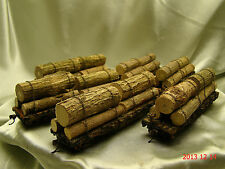 6 Logging Cars - beautiful weathered, handcrafted-new -original look- lot 0
