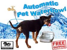 Automatic Pet Waterer Dog Animals Self Filling Water Bowl Dish Anodized Aluminum
