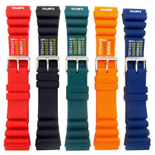 Tough PU SCUBA Divers Watch Strap ND Limits 18mm 20mm 22mm 24mm 5 Colours C038