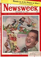 1947 Newsweek November 24 Al Capp; Communists attack Manchuria; Chinatown;Quebec