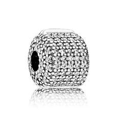 Original Pandora Charm Pavé-Clip 791873CZ Sterling Silber Bead Stopper Element