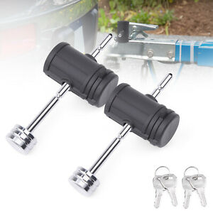MICTUNING 2x  Adjustable Trailer Coupler Pin Lock Tongue Lock  for Towing Boat
