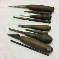 8 Vintage Wood Working Tools Hand Tools Wood Handles Homemade Knives